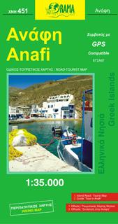 ANAFI mapa turystyczno - samochodowa 1:35 000 ORAMA