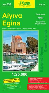 EGINA mapa turystyczno - samochodowa 1:25 000 ORAMA