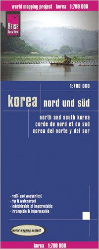 KOREA PÓŁNOCNA I POŁUDNIOWA mapa 1:700 000 REISE KNOW HOW