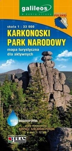 KARKONOSKI PARK NARODOWY mapa turystyczna laminowana 1:33 000 PLAN 2013