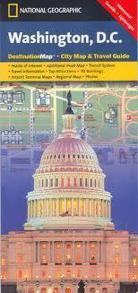 WASHINGTON DC plan miasta National Geographic USA