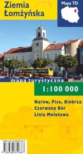 ZIEMIA ŁOMŻYŃSKA mapa turystyczna 1:100 000 wersja foliowana TD