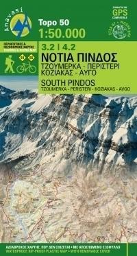 POŁUDNIOWY PINDOS mapa turystyczna 1:50 000 ANAVASI GRECJA