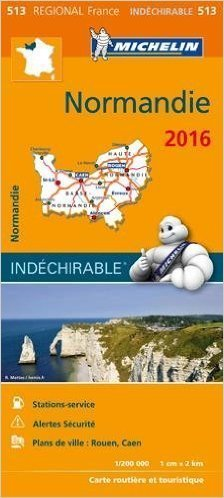 513 NORMANDIA mapa samochodowa wodoodporna  1:200 000 FRANCJA MICHELIN 2016