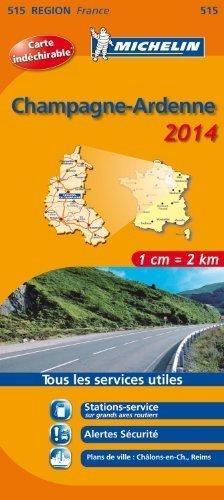 515 SZAMPANIA ARDENY mapa samochodowa wodoodporna 1:200 000 FRANCJA MICHELIN