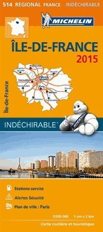 514 ILE DE FRANCE FRANCJA mapa samochodowa 1:200 000 FRANCJA MICHELIN