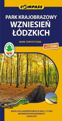 PARK KRAJOBRAZOWY WZNIESIEŃ ŁÓDZKICH mapa turystyczna 1:30 000 COMPASS