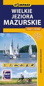 WIELKIE JEZIORA MAZURSKIE mapa turystyczna COMPASS 2015