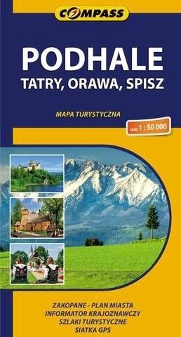 PODHALE TATRY ORAWA SPISZ mapa turystyczna COMPASS