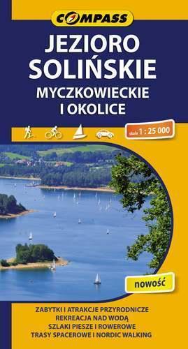 JEZIORO SOLIŃSKIE MYCZKOWIECKIE I OKOLICE mapa turystyczna 1:25 000 COMPASS
