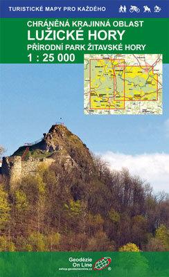 GÓRY ŁUŻYCKIE ŻYTAWSKIE mapa turystyczna 1:25 000 Geodezie On Line