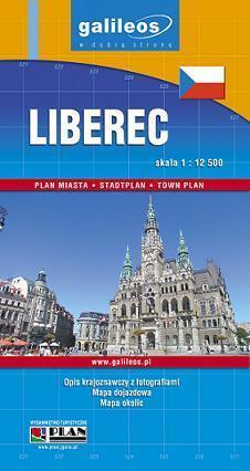 LIBEREC / JABLONEC n. Nisou plan miasta 1:12 5000 PLAN