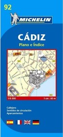 CADIZ plan miasta 1:6 000 MICHELIN