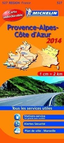 527 PROWANSJA - ALPY - LAZUROWE WYBRZEŻE mapa samochodowa wodoodporna 1:200 000 FRANCJA MICHELIN 2014