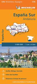 HISZPANIA POŁUDNIOWA ANDALUZJA 578 mapa 1:400 000 MICHELIN 2020