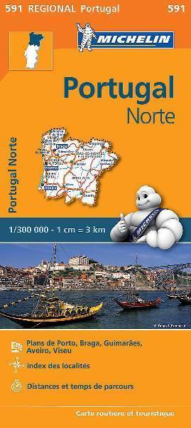 PORTUGALIA PÓŁNOCNA mapa 1:300 000 MICHELIN 2020