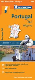 PORTUGALIA POŁUDNIOWA ALGARVE mapa samochodowa 1:300 000 MICHELIN 593