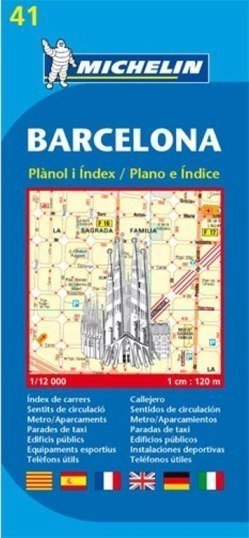 BARCELONA plan miasta 1:12 000 MICHELIN