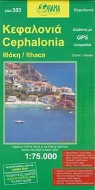KEFALONIA mapa turystyczna 1:75 000 ORAMA