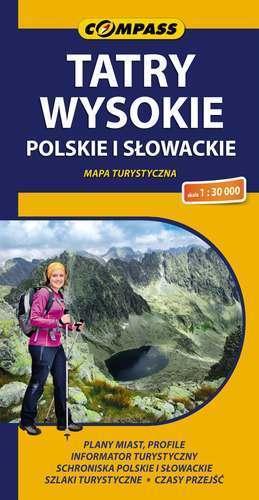 TATRY WYSOKIE POLSKIE I SŁOWACKIE mapa turystyczna 1:30 000 COMPASS