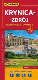 KRYNICA - ZDRÓJ plan miasta i okolice mapa turystyczna COMPASS 2018