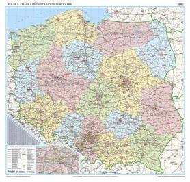 POLSKA 2013 mapa administracyjno drogowa 200cm x 200cm EKOGRAF