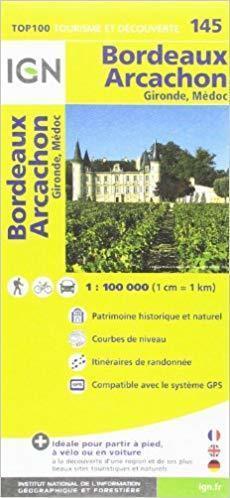 145 BORDEAUX - ARCACHON mapa okolic 1:100 000 IGN