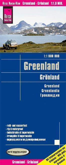 GRENLANDIA mapa 1:1 900 000 REISE KNOW HOW 2019