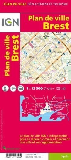 BREST plan miasta 1:12 500 IGN
