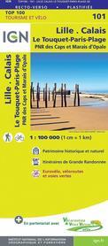 LILLE - CALAIS 101 mapa turystyczna 1:100 000 IGN