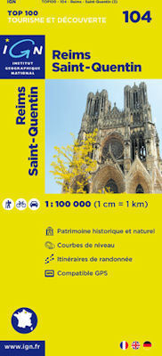 104 REIMS - ST QUENTIN mapa 1:100 000 IGN