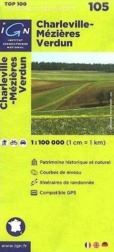 105 Charleville-Mézieres / Verdun mapa 1:100 000 IGN