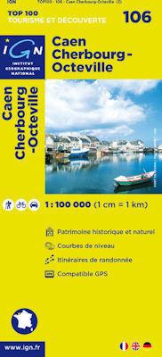 106 Caen / Cherbourg-Octeville mapa 1:100 000 IGN
