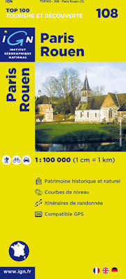 108 PARIS - ROUEN mapa 1:100 000 IGN