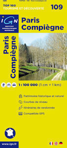 109 PARIS - COMPIEGNE mapa 1:100 000 IGN