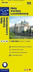 111 Metz / Verdun / Luxembourg mapa 1:100 000 IGN