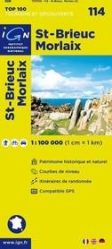 114 SAINT BRIEUC / MORLAIX mapa 1:100 000 IGN