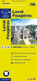 116 LAVAL / FOUGERES mapa 1:100 000 IGN