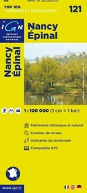 121 NANCY / EPINAL mapa 1:100 000 IGN