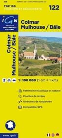 122 COLMAR / MULHOUSE / BASEL mapa 1:100 000 IGN