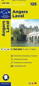 125 NGERS / LAVAL mapa 1:100 000 IGN