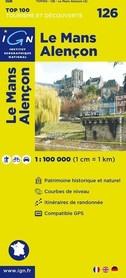 126 LE MANS / ALENCON mapa 1:100 000 IGN