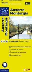 128 AUXERRE / MONTARGIS mapa 1:100 000 IGN
