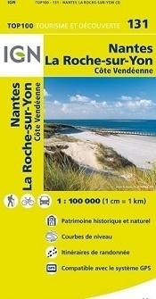 131 NANTES LA ROCHE-SUR-YON mapa 1:100 000 IGN