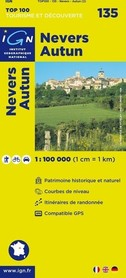 135 NEVERS / AUTUN mapa 1:100 000 IGN