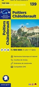 139 POITIERS / CHATELLERAULT mapa 1:100 000 IGN