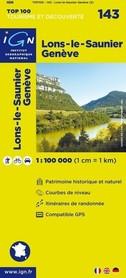 143 LONS-LE-SAUNIER / GENEVA mapa 1:100 000 IGN