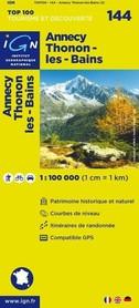 144 ANNECY / THONON-LES-BAINS mapa 1:100 000 IGN