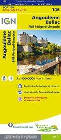 146 ANGOULEME / BELLAC mapa 1:100 000 IGN