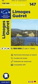 147 LIMOGES / GUERET mapa 1:100 000 IGN